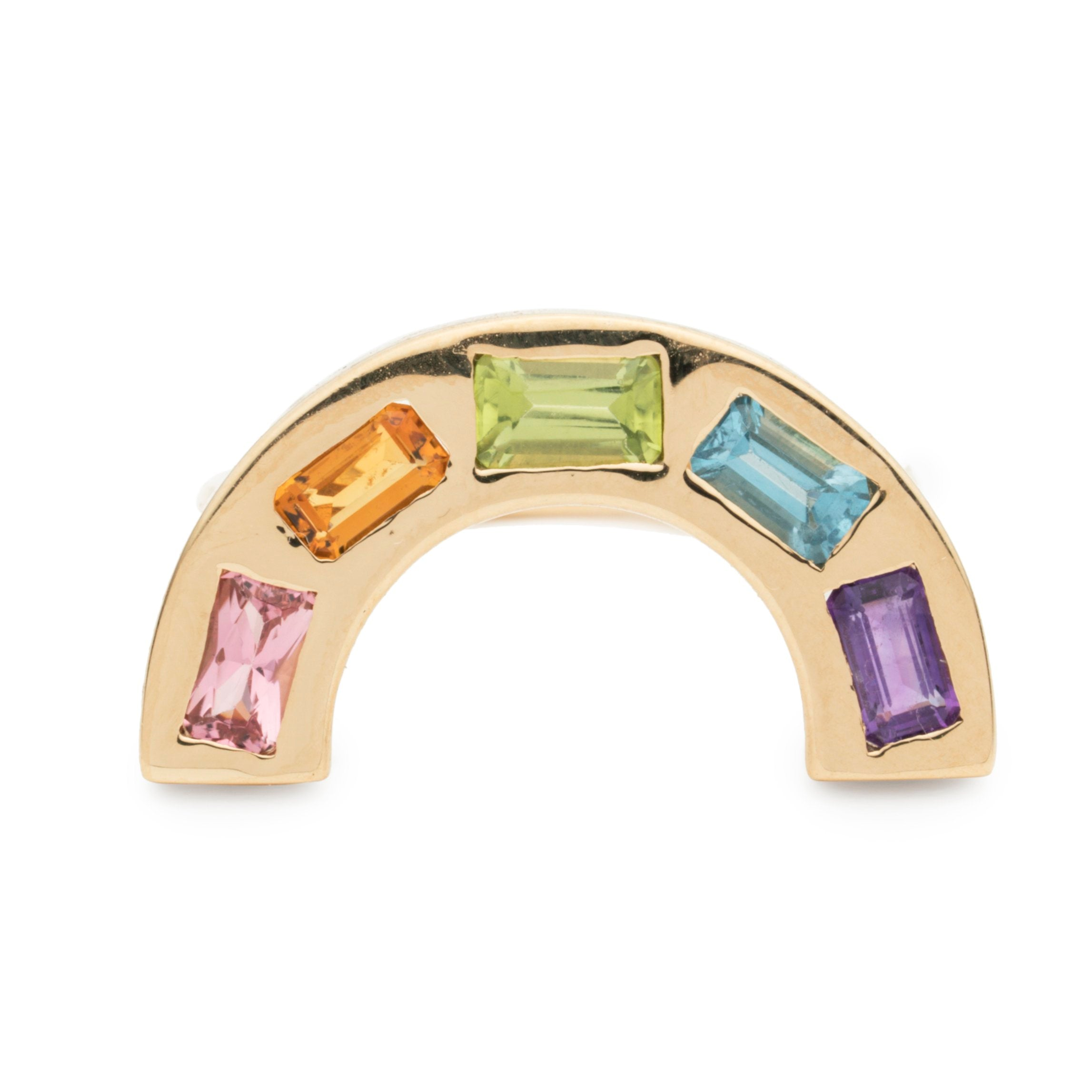 Large Deconstructed Rainbow Ring