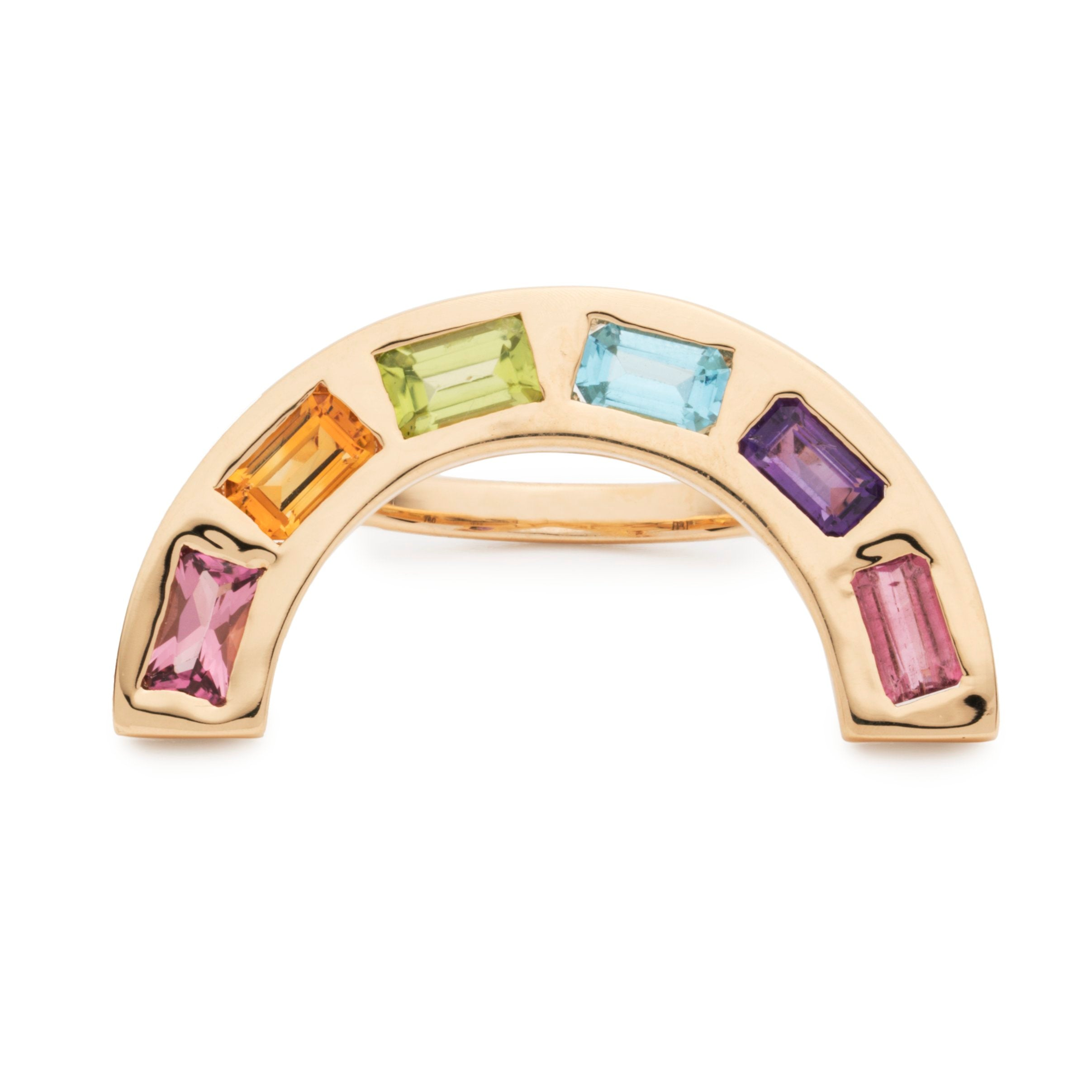 XL Deconstructed Rainbow Ring