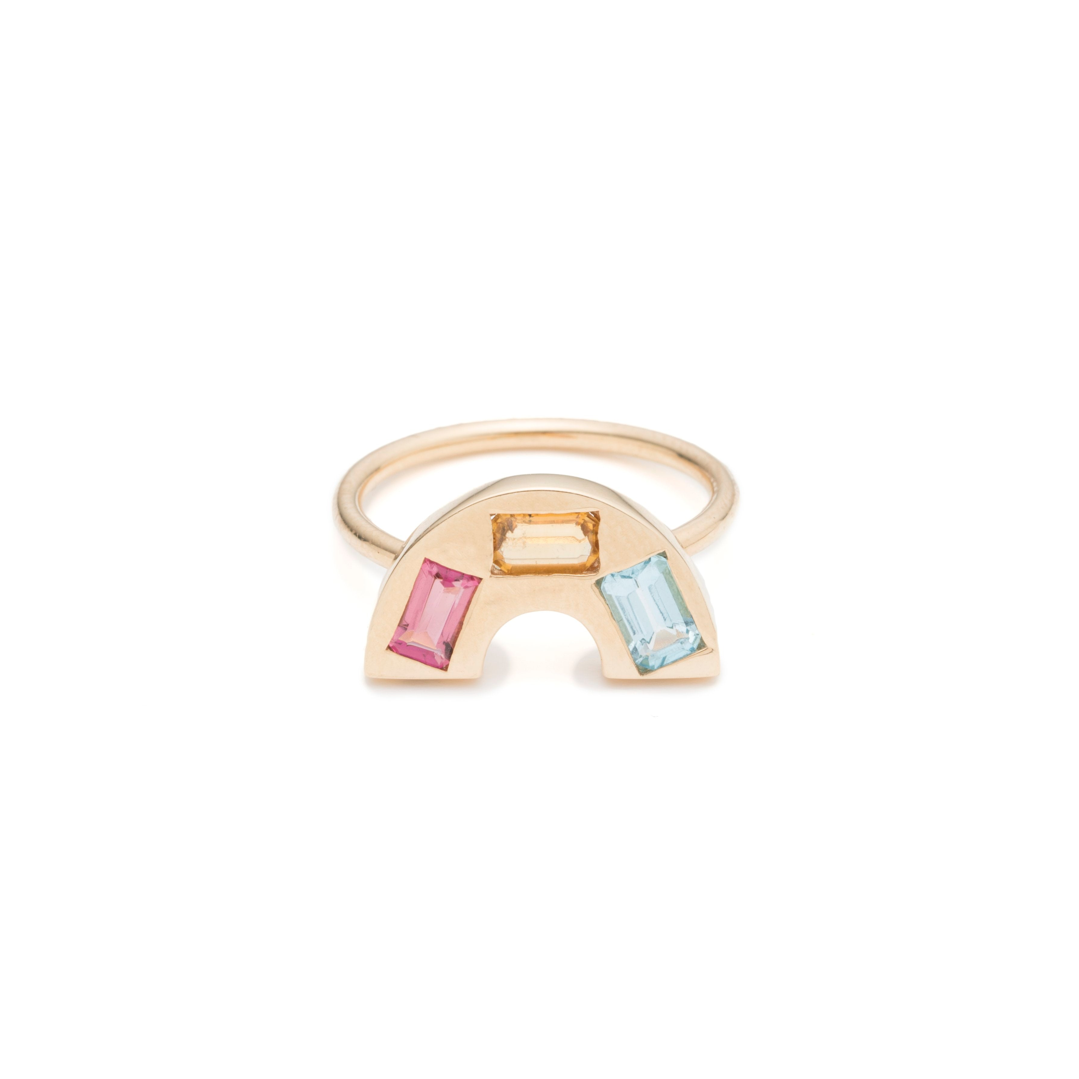 Single Rainbow Band Ring