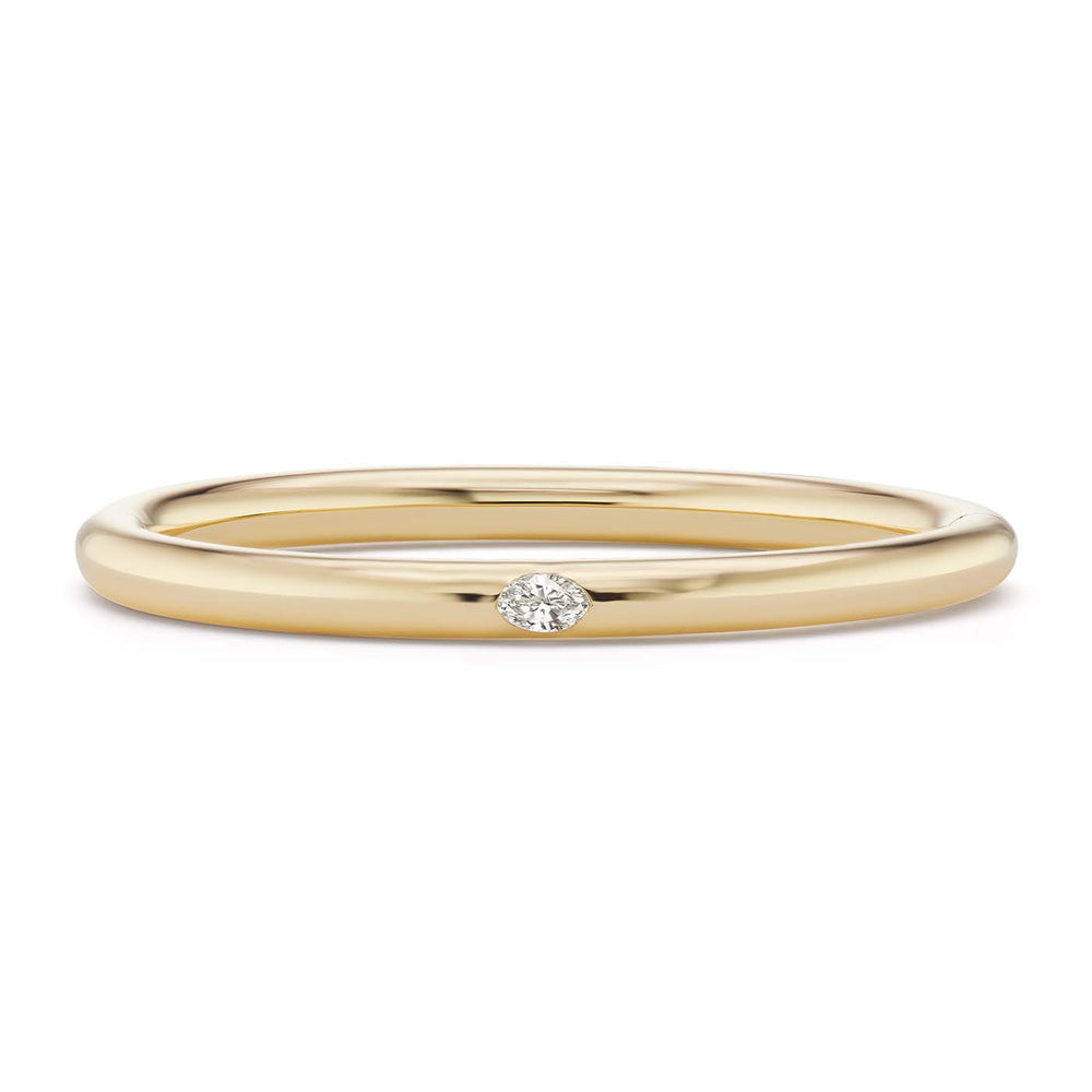 Narrow Bangle with Marquise Diamond