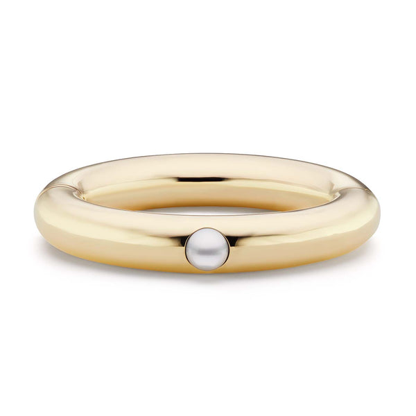 Large Bangle with Pearl