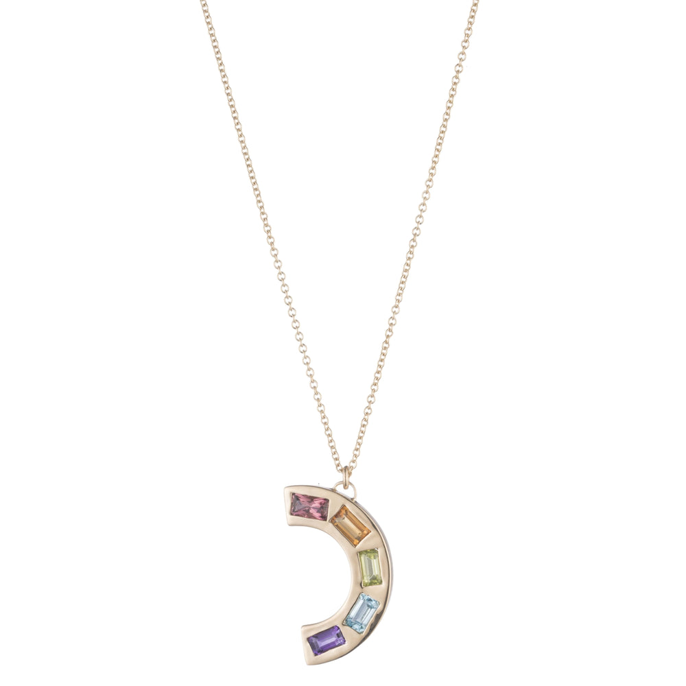 Large Deconstructed Rainbow Necklace