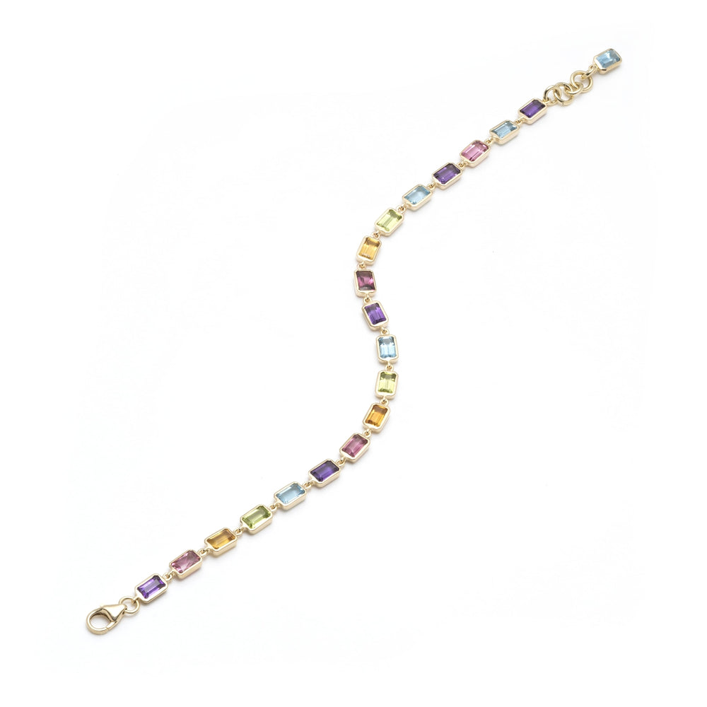 Small Rainbow Tennis Bracelet