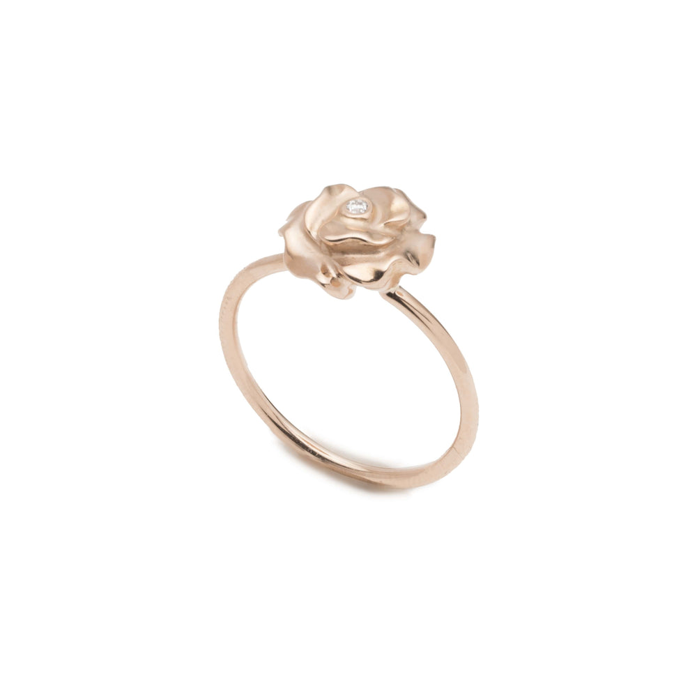 Single Rose Band Ring