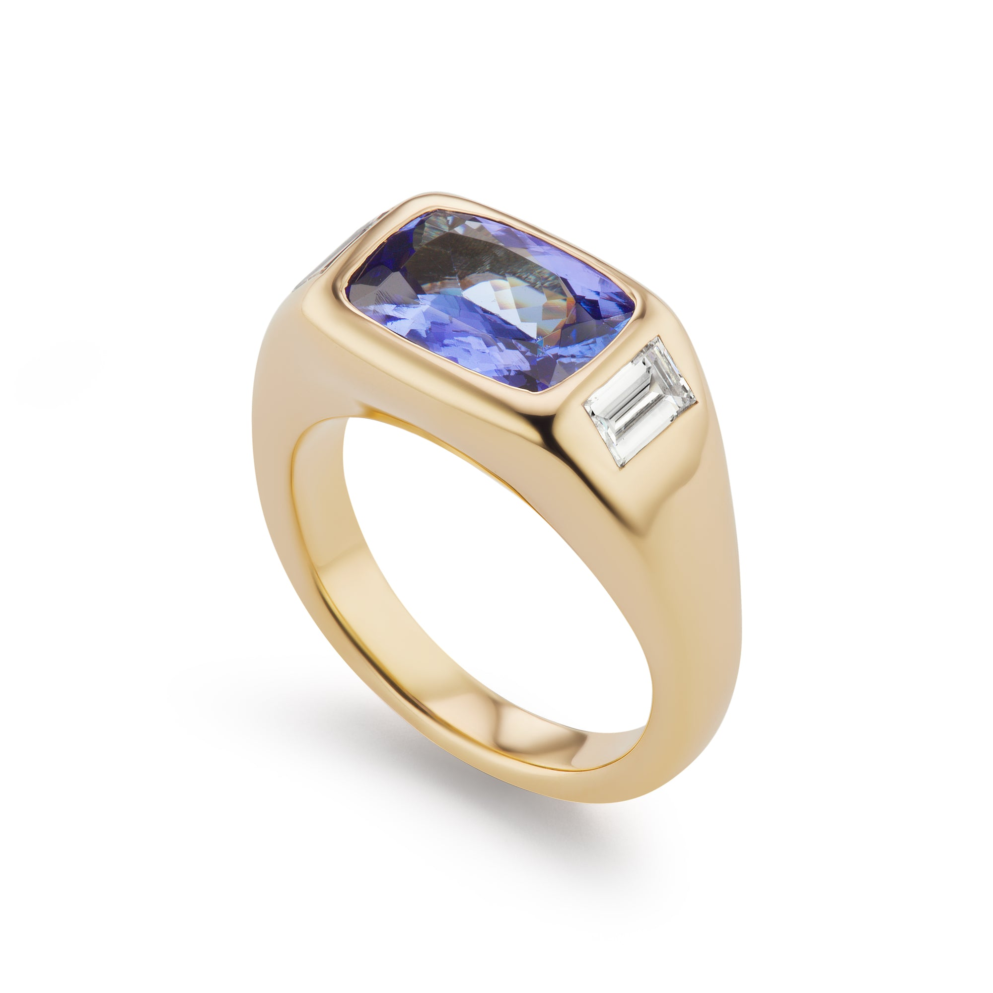 One-of-a-Kind Tanzanite and Diamond Gypsy Ring