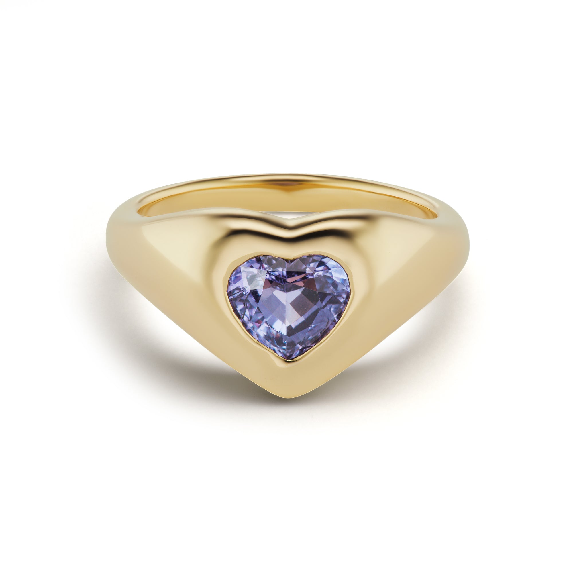 Sapphire Heart Gypsy Ring