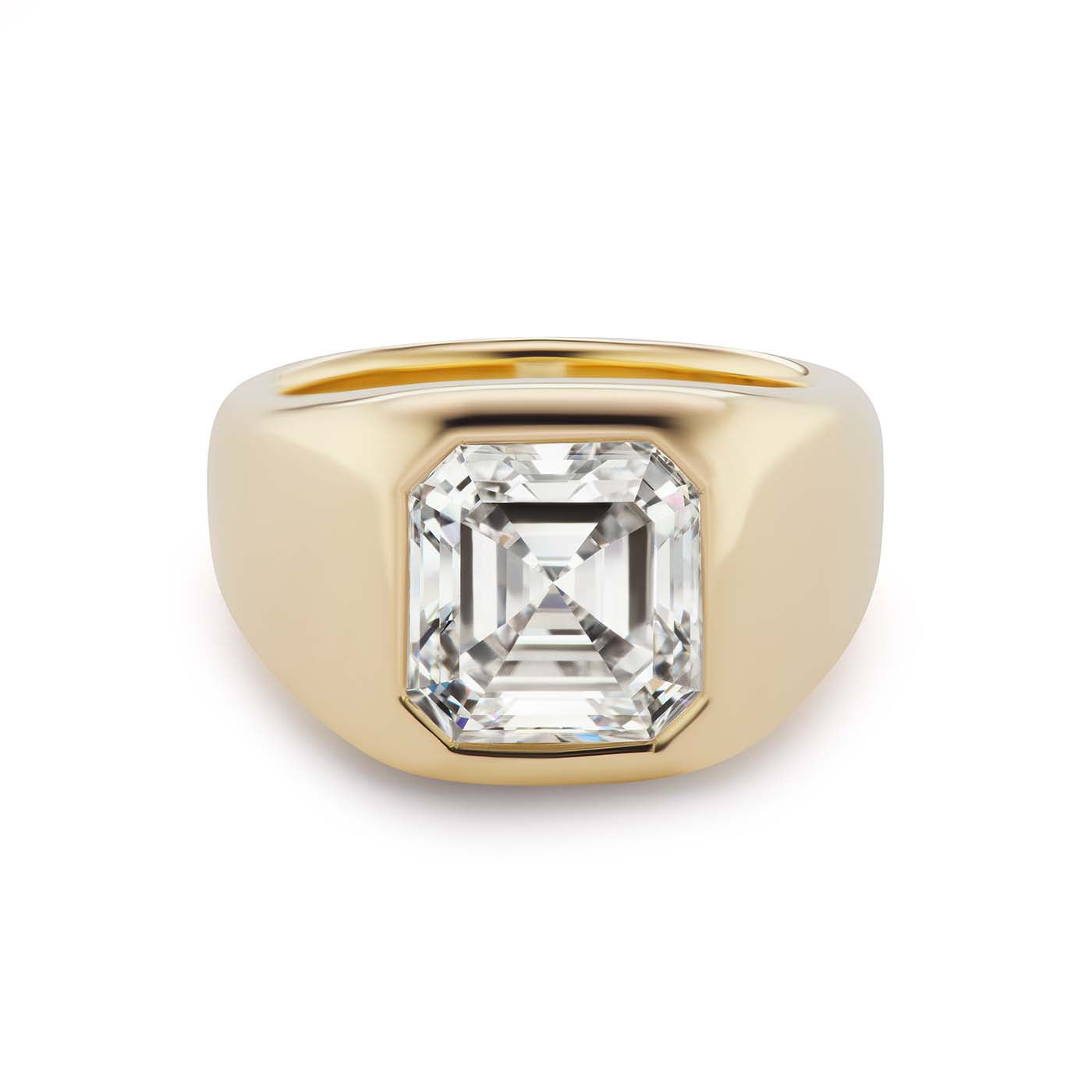One-of-a-Kind Single Asscher Diamond Gypsy