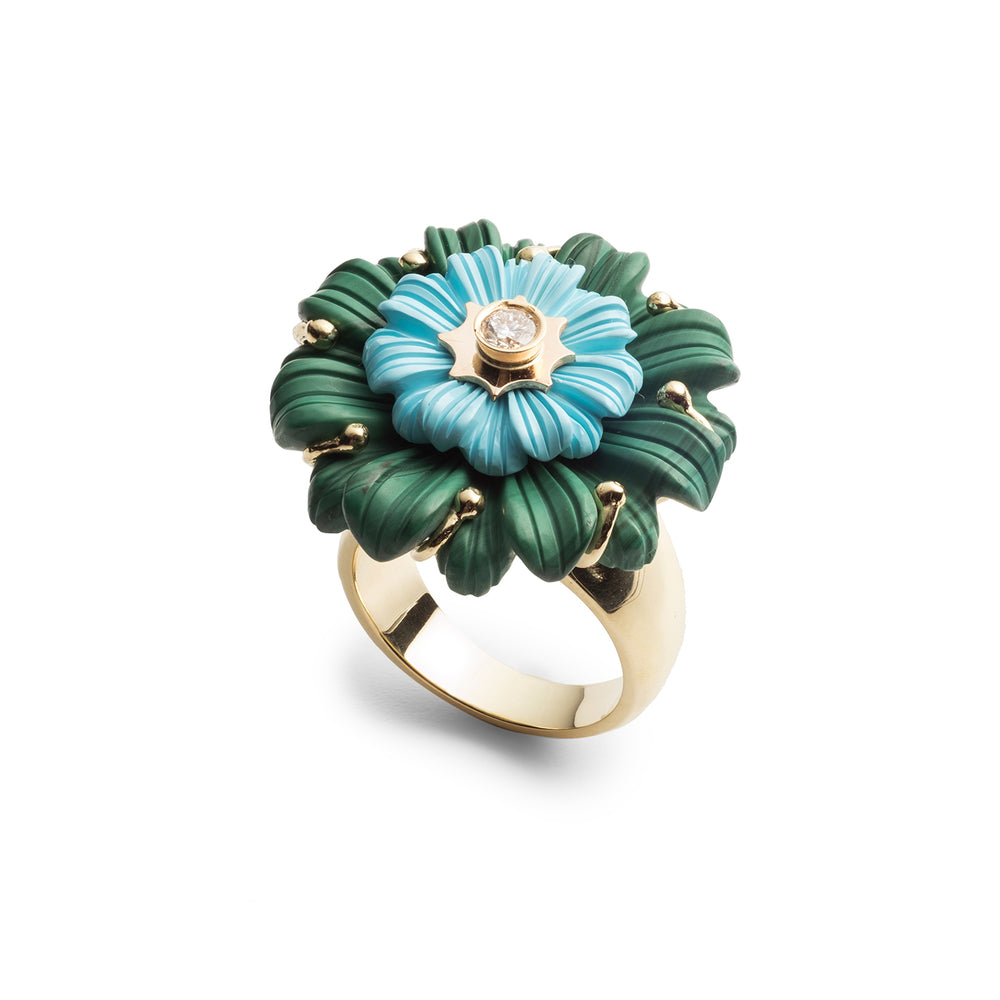 Layered Flower Cocktail Ring
