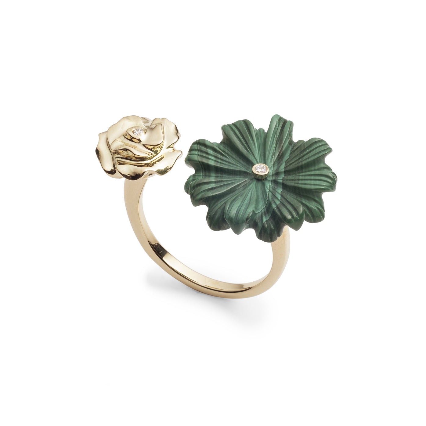 Wildflower & Rose Double-Sided Ring