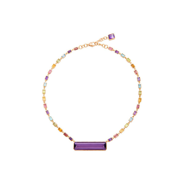 Deconstructed Rainbow Editorial Necklace