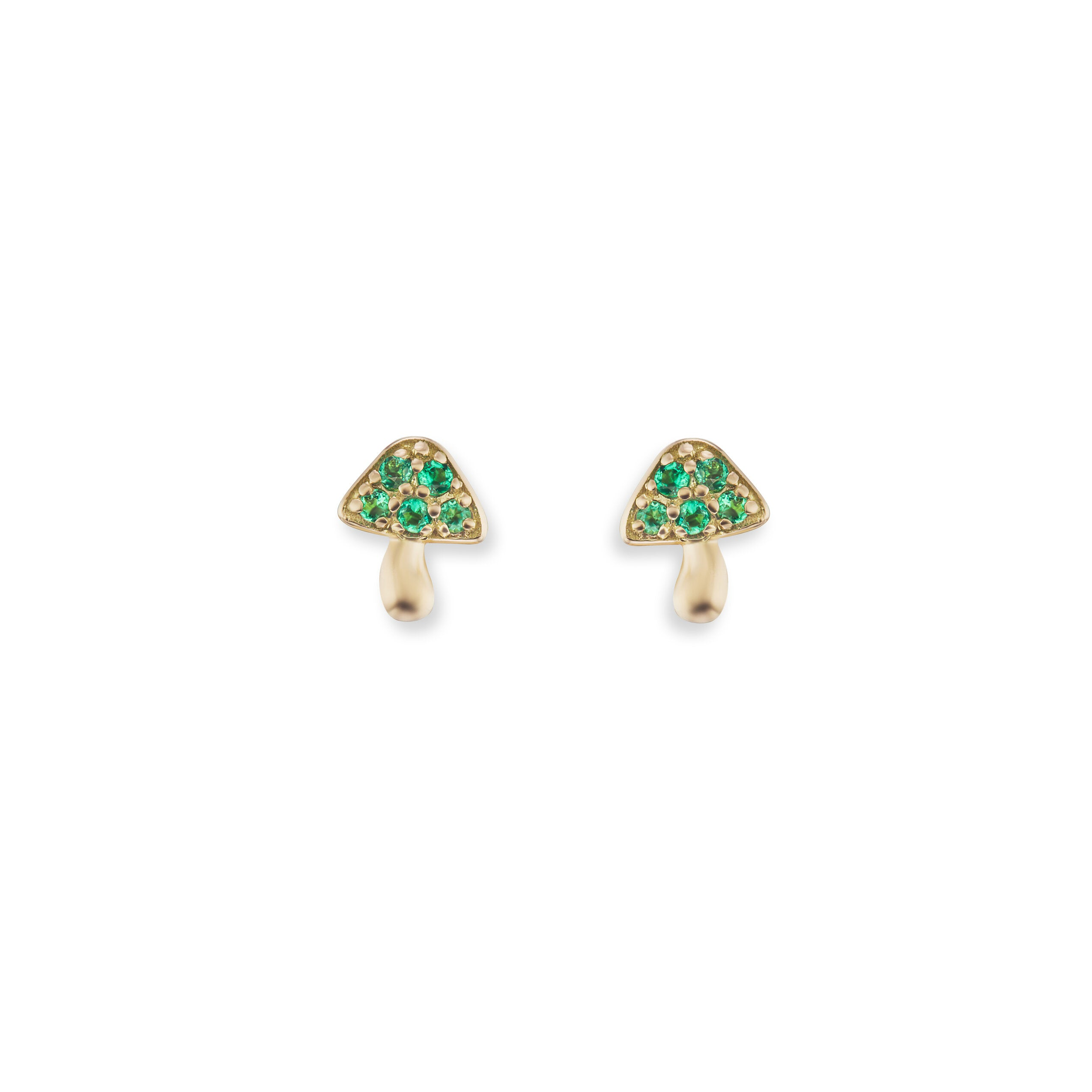 Tiny Mushroom Stud Earrings