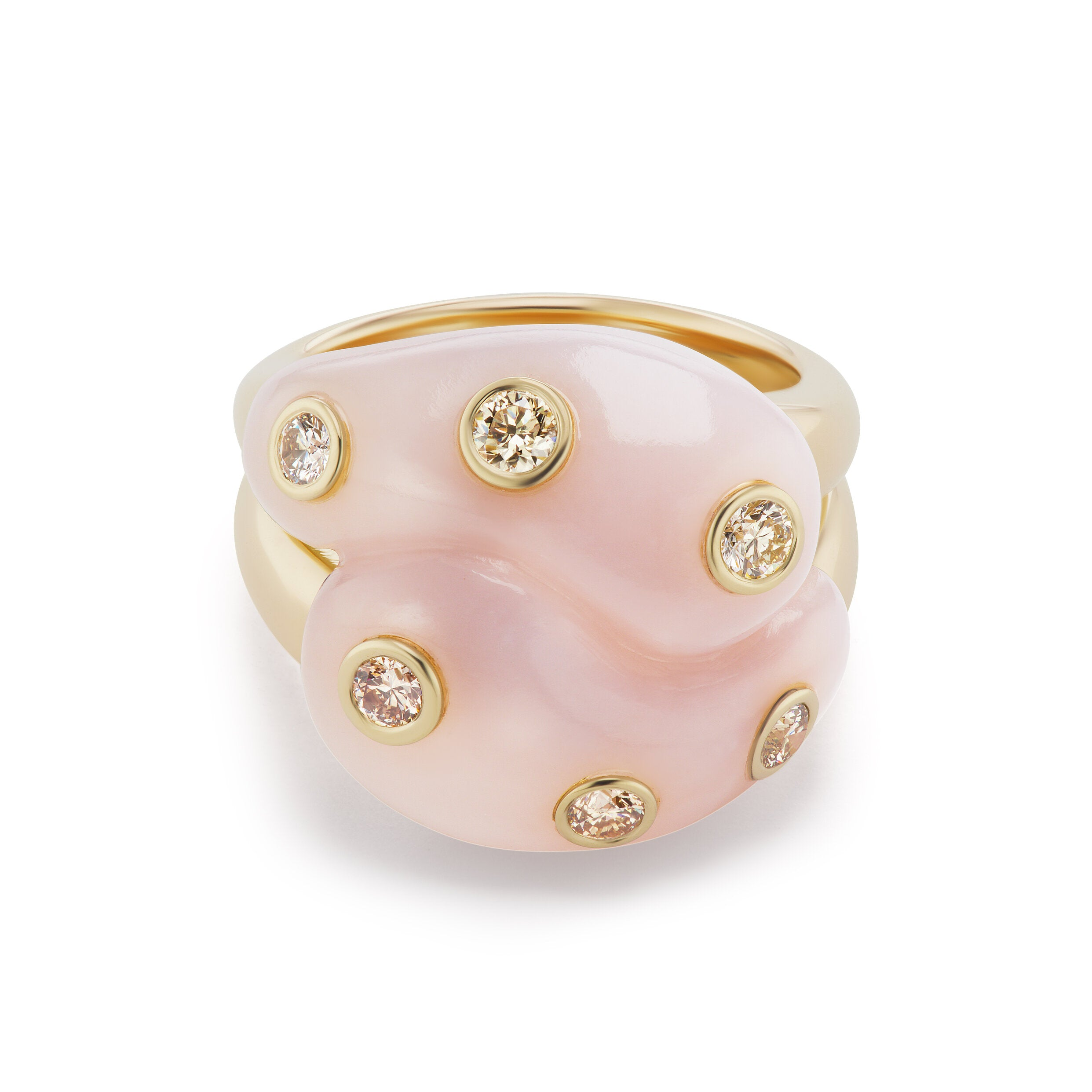 Stone Knot Ring With Diamonds Brent Neale