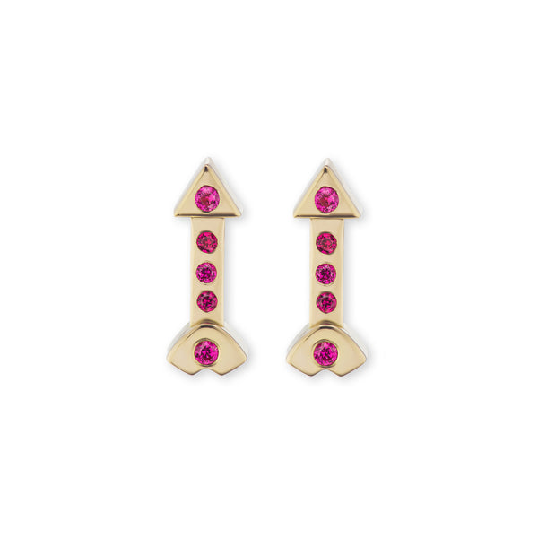 Artemis Studs with Rubies