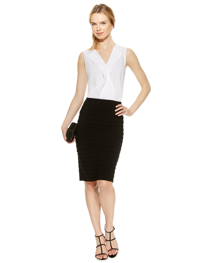 R&M Richards Shutter-Pleat Pencil Skirt