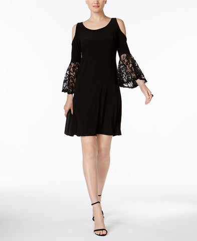 R & M Richards Petite Cold-Shoulder Shift Dress