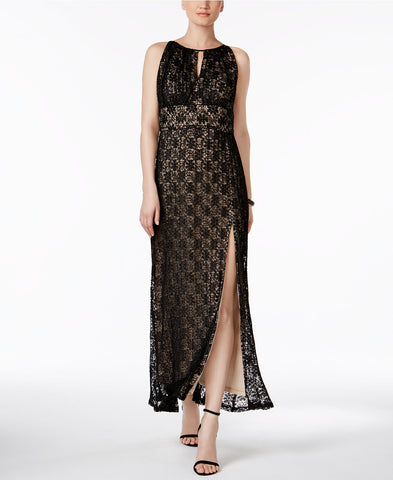 R & M Richards Lace Halter Gown