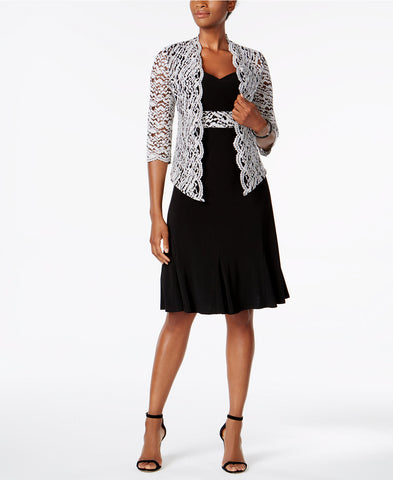 R & M Richards Sequined Lace Jacket & Dress