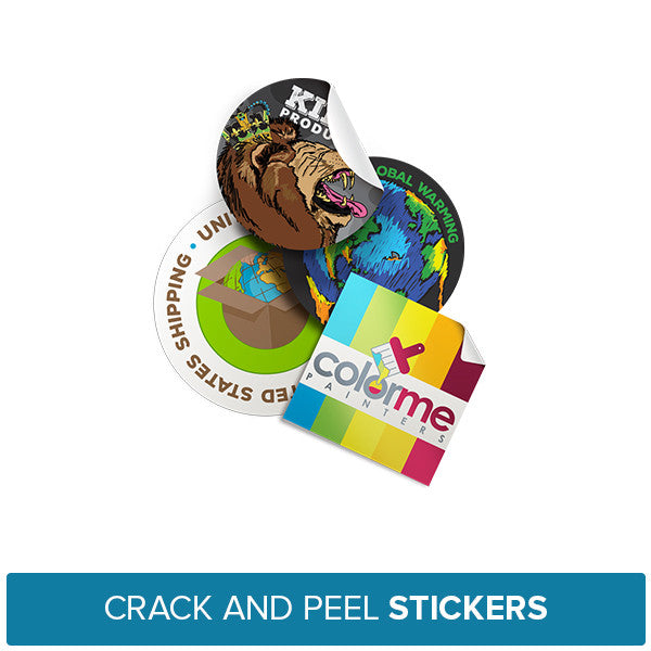 Crack and Peel Stickers