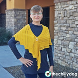 6 Layer Delight Shawl: Knitting Pattern - Generously sized, triangular shawl with simple ridges and lace and multiple styling options