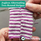 1 Sock, 2 Sock, Red Sock, Blue Sock Knitting Pattern PDF - Learn new skills while you knit: Jogless alternating Two Round Stripes