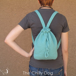 Solid, un-lined, crochet backpack purse pattern