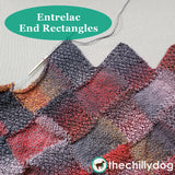 Bon Voyage Shawl and Travel Blanket Entrelac Knitting Pattern: End Rectangles Video Tutorial