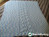 Hugs and Kisses Cables Baby Blanket - Gender neutral knit heirloom baby blanket pattern