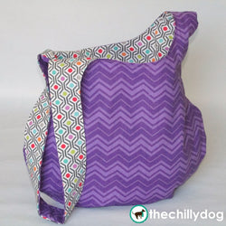 Easy to sew, reversible Japanese knot project bag pattern tutorial