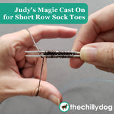 Free Climber Socks Video Tutorial: Learn Judy's Magic Cast On for Short Row Sock Toes