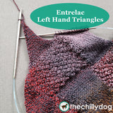 Bon Voyage Shawl and Travel Blanket Entrelac Knitting Pattern: LH Triangles Video Tutorial