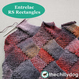 Bon Voyage Shawl and Travel Blanket Entrelac Knitting Pattern: RS Rectangles Video Tutorial