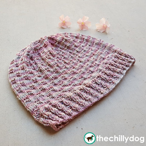 Soft and feminine knit chemo cap pattern