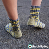 Road Trip Socks - Unisex travel, road, driving knit sock pattern with twined heel flap