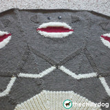 Wool sock monkey Christmas tree skirt knitting pattern