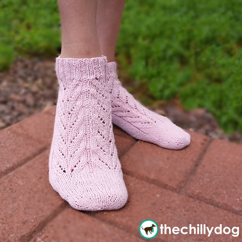 Whale Done Socks - Skill building KAL sock knitting pattern