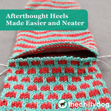 1 Sock, 2 Sock, Red Sock, Blue Sock Knitting Pattern PDF - Learn new skills while you knit: Afterthought Heels Made Easier and Neater