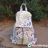 Large pocket, travel backpack purse sewing pattern