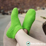 Best Worsted Socks Toe Up - Grass Slipper
