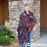 Bon Voyage Shawl and Travel Blanket Entrelac Knitting Pattern - One Size Fits Most