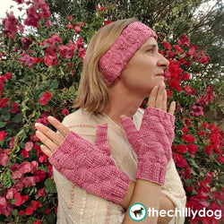 Butterfly Kisses Pattern - Skill building KAL ear warmer headband and mitts knitting pattern