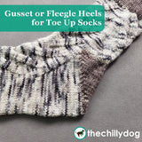 Free Climber Socks Video Tutorial: Learn how to knit a Fleegle, or flap-less gusset heel, from the toe up