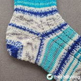 Line Drawing Socks Knitting Pattern: Week 4 - The Afterthought Heel