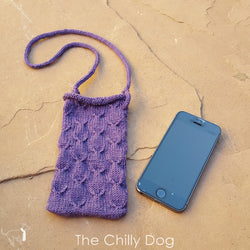 Lanyard style knit phone case pattern