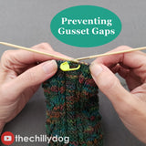 Secret Admirer Socks Video Tutorial: How to prevent gusset gaps