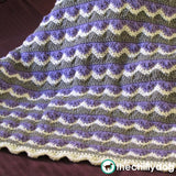 Three color, mountain zig zag crochet blanket pattern