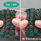 Secret Admirer Socks Video Tutorial: Mock cables and twisted stitches, t2r/t2l