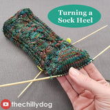 Secret Admirer Socks Video Tutorial: How to turn a sock heel