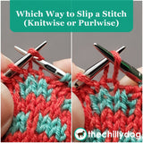 1 Sock, 2 Sock, Red Sock, Blue Sock Knitting Pattern PDF - Learn new skills while you knit: Which Way to Slip a Stitch, Knitwise or Purlwise