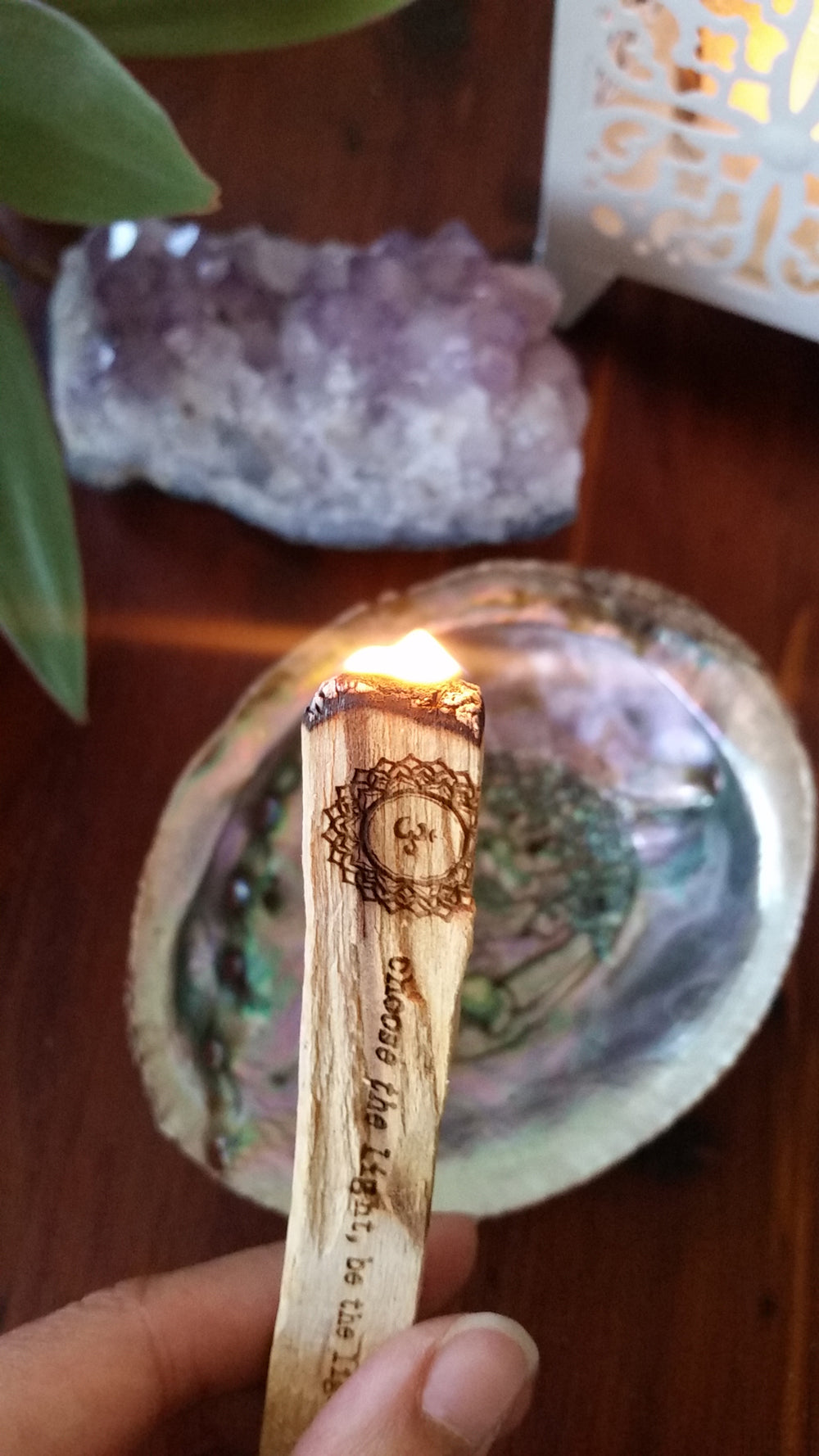Etched Palo Santo Stick » Light