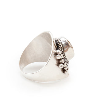 Celestial Gathering Silver Ring - Moonstone